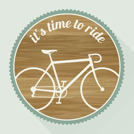 bicicleta retro: El emblema de la bicicleta en un estilo retro Vectores