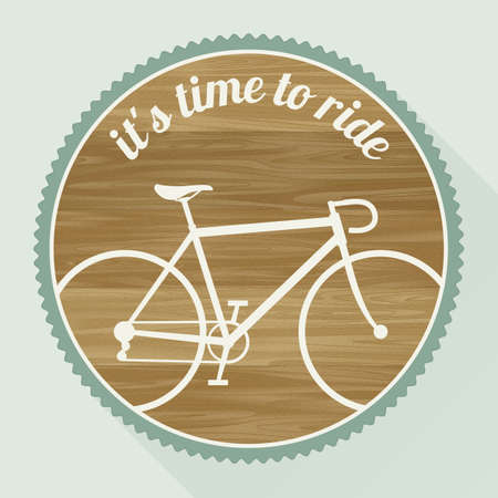 healthy path: The emblem of the bicycle in a retro style Illustration