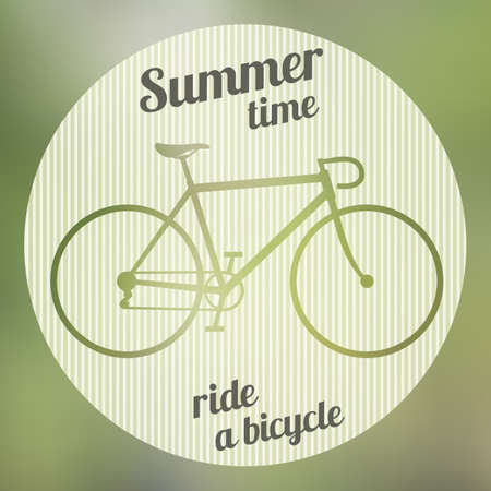 Bicycle logo on the gradient background Vector