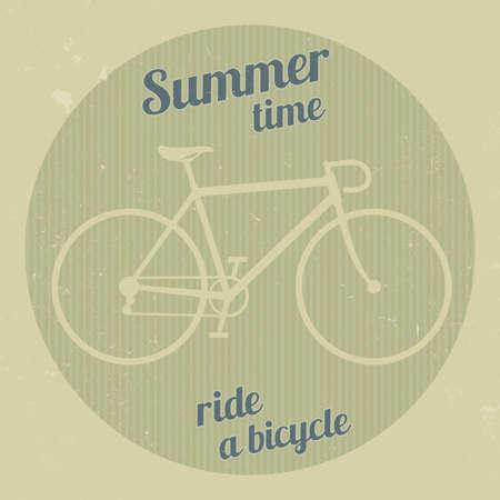 Bike silhouette in a retro style Vector