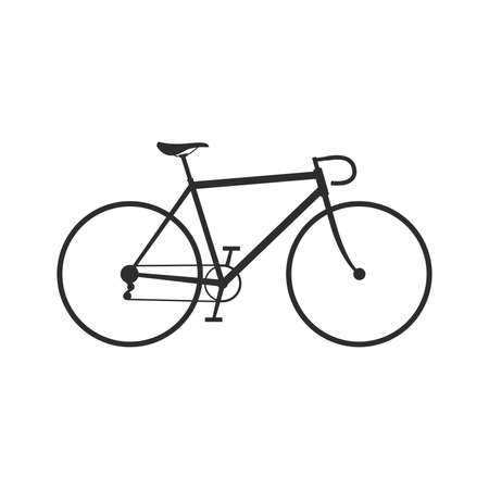 healthy path: bike icon Illustration