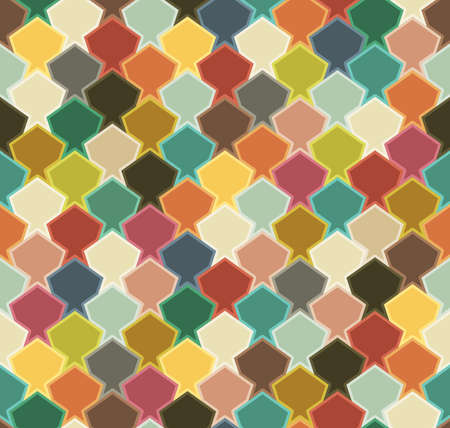 imposition: Geometric seamless pattern. Colorful abstract fish.