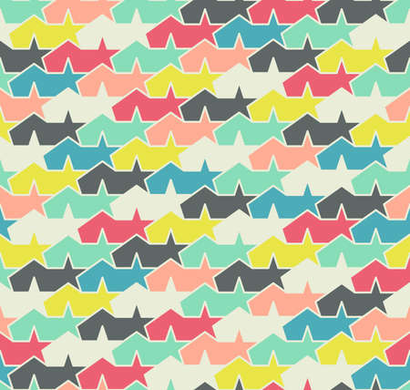 imposition: Multicolored seamless pattern. Colorful abstract stars.