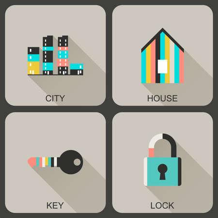 bisiness: Universal flat icons.