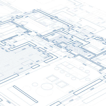 Blueprint. Vector drawing background. Vettoriali