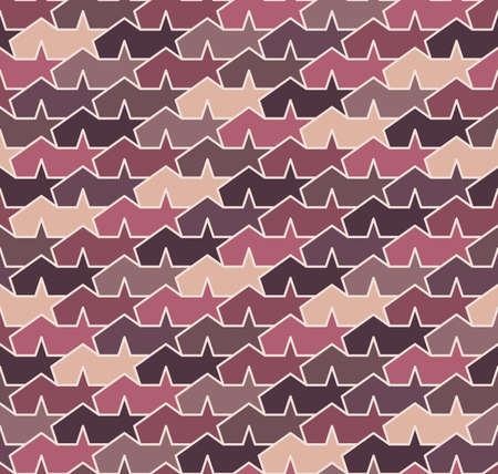 imaginative: Seamless pattern. Violet abstract tents with stars.