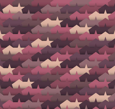 imposition: Geometric seamless pattern with abstrakt tents and stars. Illustration