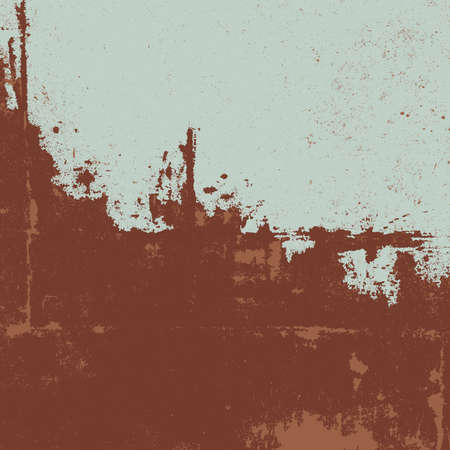 attrition: Rusty texture. Grunge illustration of a rusty painted metal. Illustration