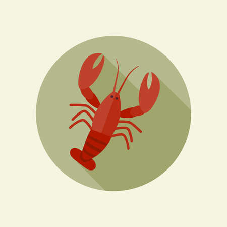 crawfish: Crawfish vector icon in a flat style.