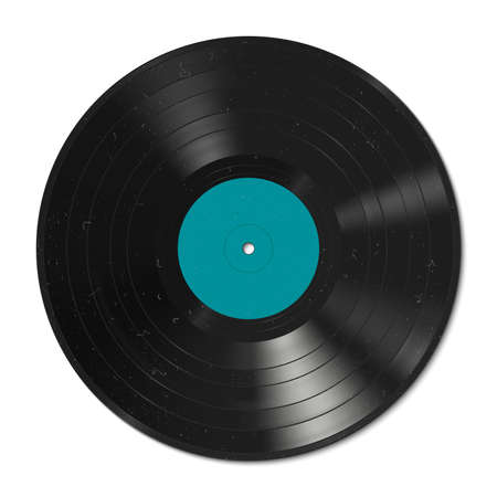 record: Vector illustration of a vinyl record with dust on the surface.
