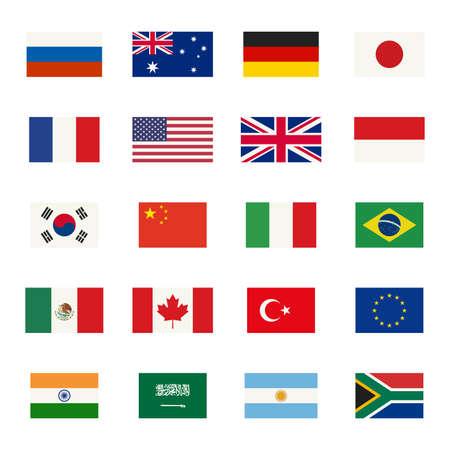 italien flagge: Einfache flags icons der L�nder, in flachen Stil.