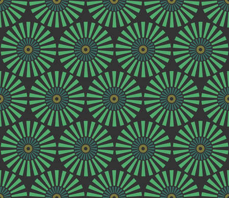 vector pattern: Seamless vintage circular pattern. Vector abstract background.