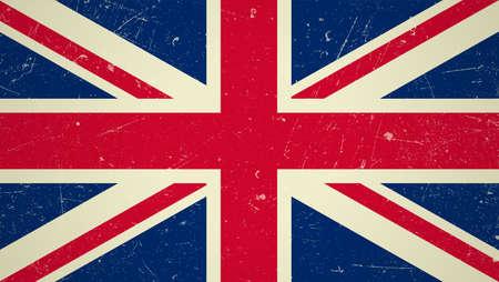 bandera de gran bretaña: Gran Bretaña bandera con el grunge Textura bandera británica. Vectores