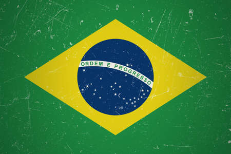 brazilian flag: Brazilian flag with grunge texture.Brazilian flag.