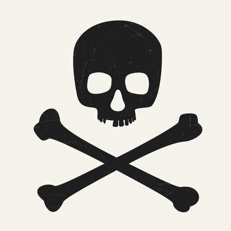 toxic: Skull and crossbones. illustration symbol of danger.