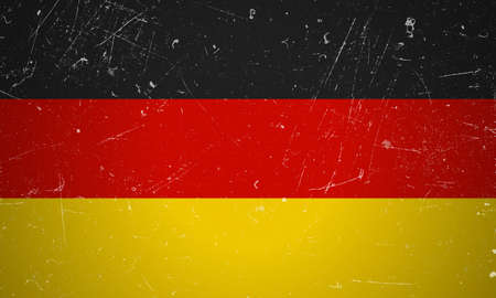 german flag: German flag with grunge texture.German flag. Illustration