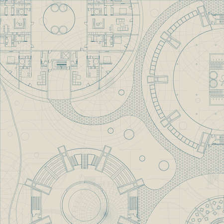 Blueprint architectural background ilustraciones vectoriales clip architectural blueprint engineering technical plan on gray background malvernweather Choice Image