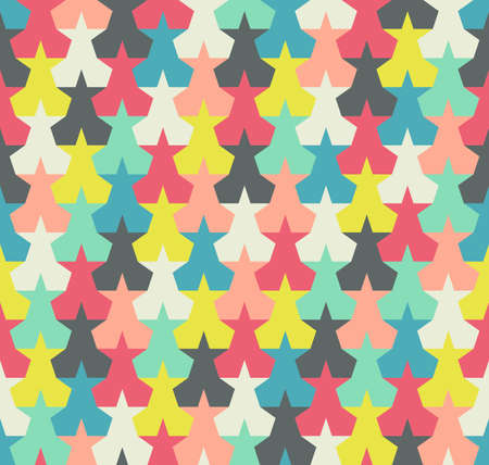 imposition: Seamless pattern. Background with colorful abstract stars Illustration