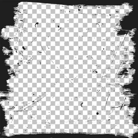 nakładki: Grunge granicy szablon z zadrapania tekstury. Wektor ramki szczotki t?a. Ilustracja