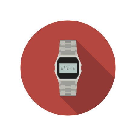Watch flat icon Illustration