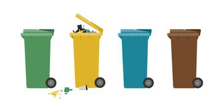 Garbage cans Illustration