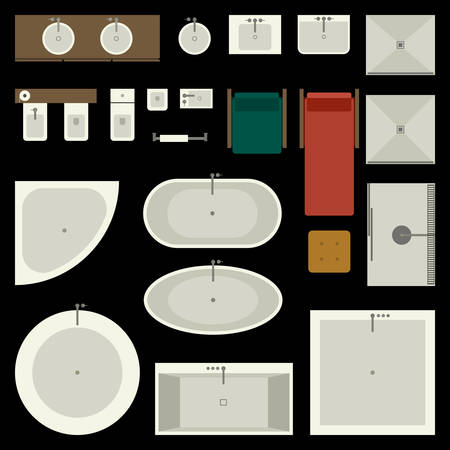 Conjunto de muebles de baño