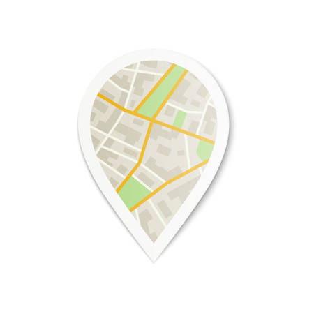 generic location: Pin with City Map Illustration