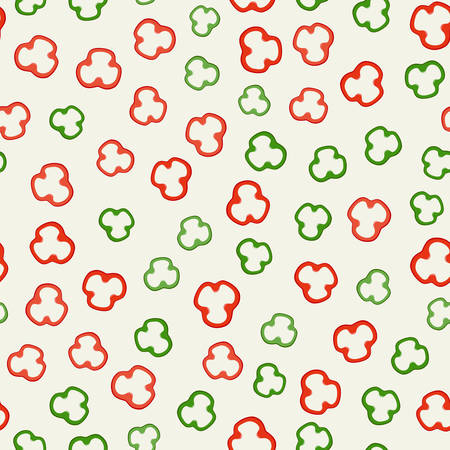 Pepper slices pattern Illustration