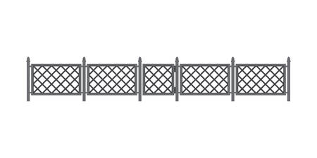 Metal fence Illustration
