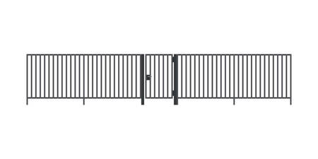 Metal fence with gate