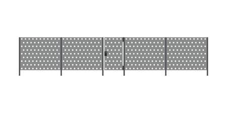 metal: Metal fence Illustration