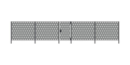 Metal fence Illustration