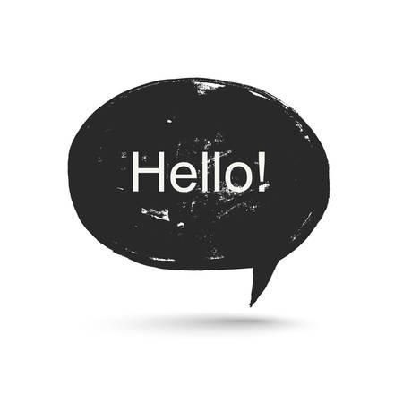 speak bubble: Grunge speak bubble. Illustration