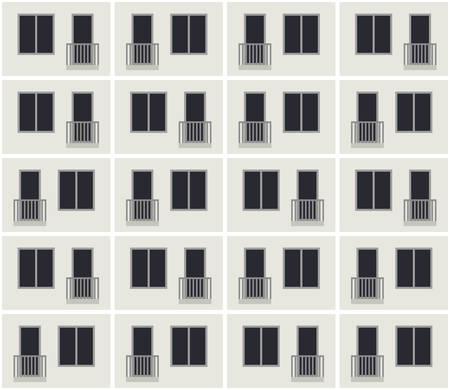 Building facade pattern Vektoros illusztráció