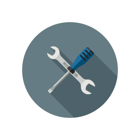 turn screw: Spanner and screwdriver