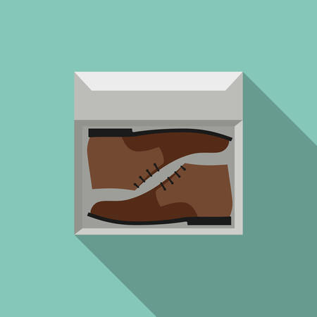 brown box: Brown shoes in box