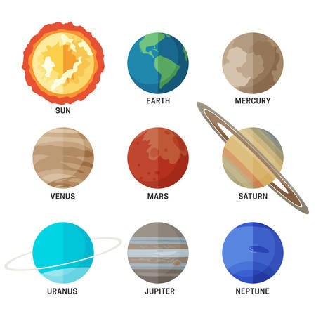 Planets of the solar system Illustration