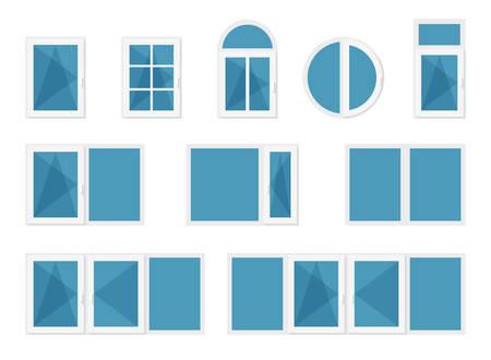 transom: Windows with white frames Illustration