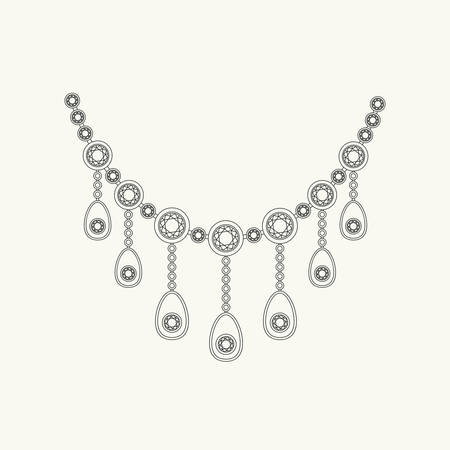 coulomb: Necklace line drawing