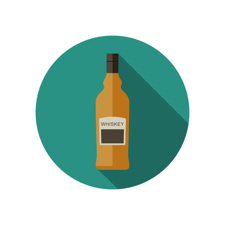Whiskey icon in flat style