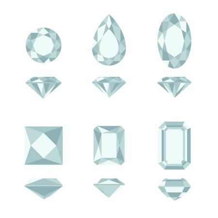 asscher: Diamond and gemstone shapes.