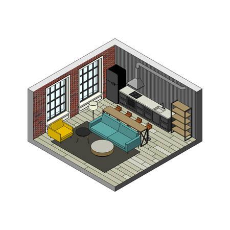 condo: Living room interior