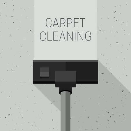 Carpet cleaning with vacuum cleaner Ilustração