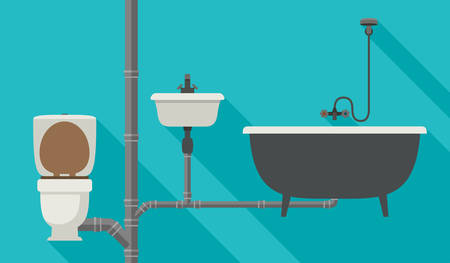 Engineering sewer system Illustration