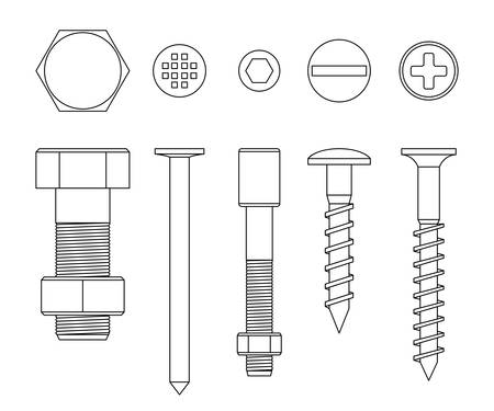 turn screw: Screws and bolts