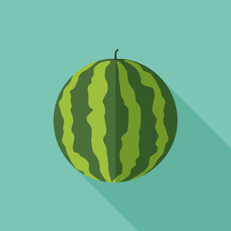 Watermelon with long shadow