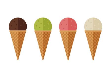 thirsty: Ice cream flat icons. Illustration