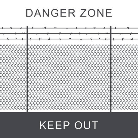 Danger zone with fence.