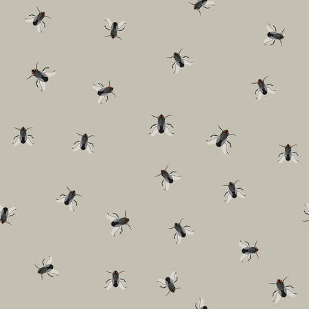 Seamless pattern with flies Stock Vector - 84284484