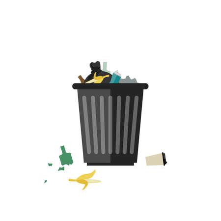 Mülleimer voll